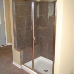 Glass shower doors installed by Santa Fe Glass in Independence, MO